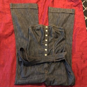Arden B Denim Jumpsuit Medium